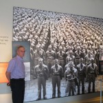 Pearl Harbor, Hawaii, Visitors Center museum - with photomural of famed Nisei 442nd Regimental Combat Team (