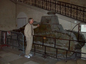 French Renault tank of World war I. Les Invalides military museum, Paris.