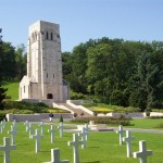 American Aisne-Marne Cemetery at Belleau Wood, France, to U.S. solders who died in that sector during WWI. 2008/10.