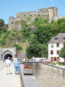 Bouillon, Medieval cstle in Bouillon, southern Belgium - a favorite stop in beautiful town, 2008-11