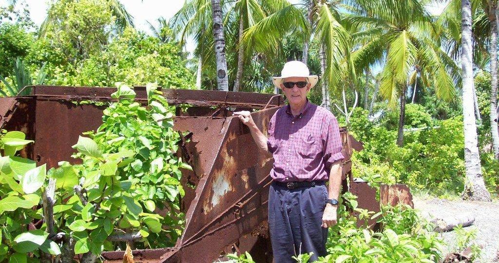 Ruins of Marine Corps LVT-1 amphibious tractor on Bikenebeu, Tarawa Atoll. 2008/09.