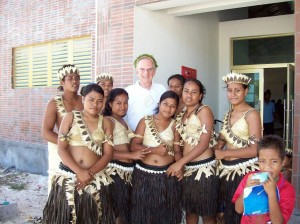 Kiribati dancers at 65th anniversary ceremony, Battle of Tarawa. 2008.