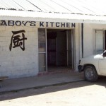 Aboy's Kitchen, Betio, Tarawa. Really good food and cheap - one of just two decent places to eat. Good rice. 2008/09