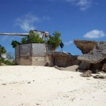 Japanese gun emplacement and bunker, southwestern tip of Betio, Tarawa. 2008/09.