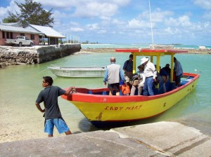Our boat for crossing Tarawa lagoon and reefs from Betio to Buariki island. 2008.