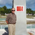 At Second Marine Division memorial on Betio, Tarawa. 2008/09.
