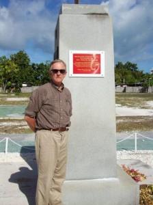 At Second Marine Division memorial on Betio, Tarawa. 2008/09.