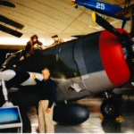 P-47 Thunderbolt at American aviation museum at Duxford, England. 2004