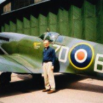 Royal Air Force Spitfire fighter at Duxford, England, Imperial War Museum. 2004