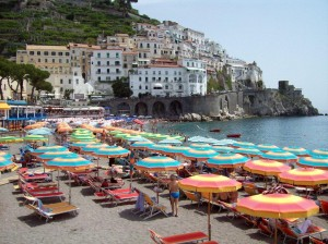 Town of Amalfi on Bay of Salerno, visited during Italian Campaign tour. 2007.