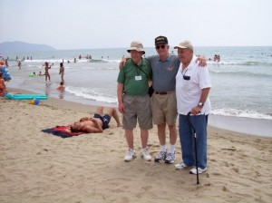 U.S. 36th Infantry Division landing beach at Salerno, Italy. 2007.