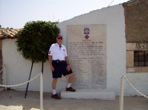 Drop zone memorial to 82nd Airborne Division at Ponte Dirillo behind Gela landing beaches. Invasion of Sicily, July 1943. 2007.