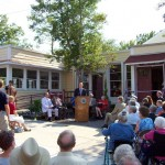 Ceremony rededicating the renovated and restored Hannah Block Historic USO/Community Arts Center. July 3, 2008.