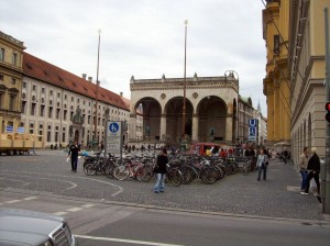 The Feldhernhalle in Munich, site of many Nazi party rallies. 2008/10.