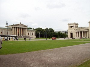 Konigsplatz in Nazi Munich, site of famous torchlight and Hitler Nazi party rallies in 1930s. 2008/10.