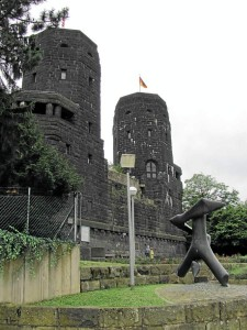 Remagen bridge on the Rhine River, west towers. 2010.