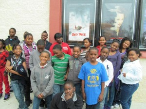 "The Community Boys & Girls Club of Wilmington were guests of the World War II Wilmington Home Front Heritage Coalition at a showing of the George Lucas movie, ""Red Tails,"" a story of the Tuskegee Airmen in combat in Europe during WWII. January 2012."