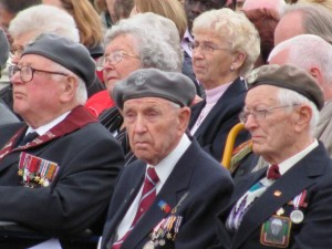 WWII veterans of the Polish 1st Airborne Brigade at Driehl, Netherlands 66th anniversary ceremony. 2010.
