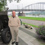 Memorial park next to John Frost Bridge, reproduction of WWII Bridge Too far at Arnhem, Netherlands. 2010.