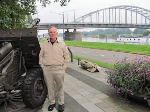 Memorial park next to John Frost Bridge, reproduction of WWII Bridge Too far at Arnhem, Netherlands. 2010.