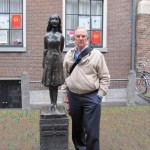 Statue of Anne Frank outside of Anne Frank House, Amsterdam. 2010.