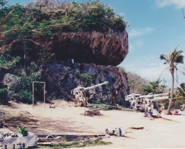 Saipan, Marianas - Last command post cave of Japanese commander Gen. Yoshitsugu Saito on island's northern end. 1995