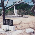 Saipan shrine to Japanese dead killed in action and civilians who killed themselves at Suicide Cliffs. 1995