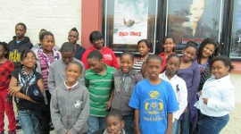 "The group from the Community Boys & Girls Club of Wilmington. They were guests of the World War II Wilmington Home Front Heritage Coalition at the afternoon showing today of that wonderful George Lucas historical movie, ""Red Tails,"" a story of the Tuskegee Airmen in combat in Europe during WWII."