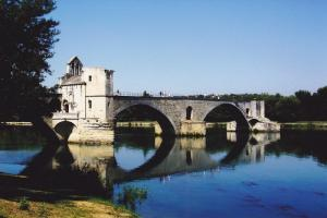 The Pont at Avignon on the Rhone River, France